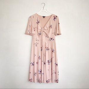 Torrid | Pink Floral Fit n' Flare Dress 00 (10)